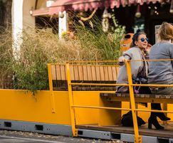 Robust Parklet creates space for people and plants