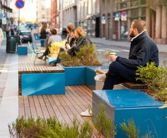 PARKLET module provides seating and relaxation space