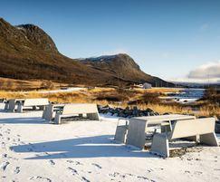 KYOTO seats and table at Filefjell, Norway