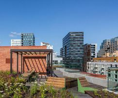 Vestre outdoor seating and tables - roof terraces