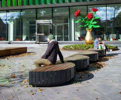 STRIPES benches - children's hospital, Finland
