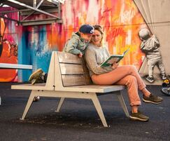ATLAS contemporary seat can also be used outdoors