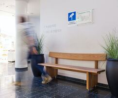 Contemporary seat for indoor public areas