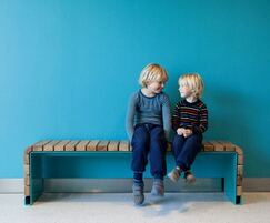 MOVE contemporary bench for indoor public spaces