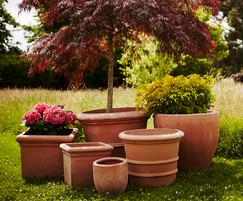 Tuscan style planters from the Terracino range