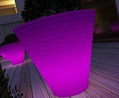 Africa luminous planter - purple