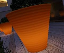 Africa luminous planter - orange