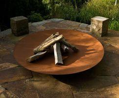 Corten steel fire bowl/pit