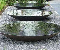 Steel water bowl/feature