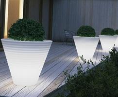 Africa luminous planter - white