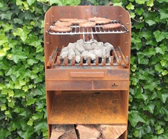 Skipp corten steel bbq and wood burner