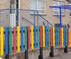 100% recycled plastic picket fencing