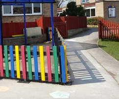 100% recycled plastic picket fencing - multi coloured