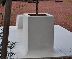 UrbaSTYLE Pop Up architectural precast concrete planter