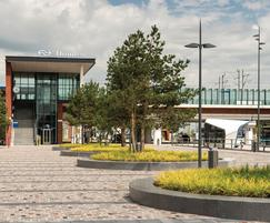 Tree seats, Dronten station, Netherlands