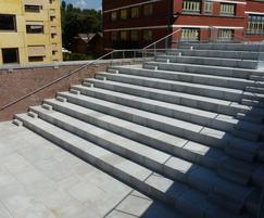 Custom concrete steps - Hasselt University, Belgium