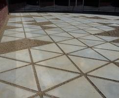 Custom concrete slabs - Hasselt University, Belgium