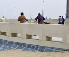 Architectural concrete barriers - Ostend seafront