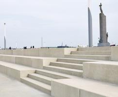 Architectural concrete steps - Ostend seafront