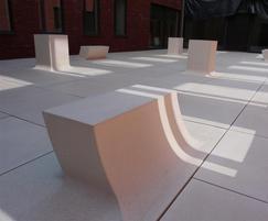 Pop Up architectural concrete bench