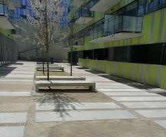 Custom concrete slabs and benches, Leuven (B)