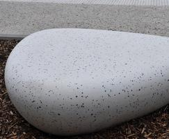 Galet cast stone egg benches - City of Charleroi