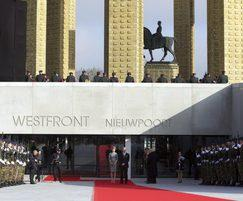 Opening ceremony at Westfront Nieuwpoort monument