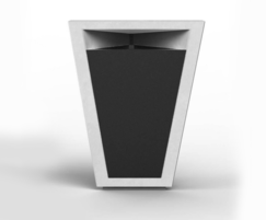 Paperboat architectural cast stone litter bin