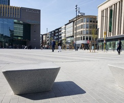 Charlie cast stone square benches - Rive Gauche centre