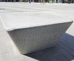 Charlie square cast stone bench