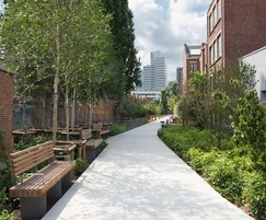 Street furniture and large format paving