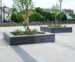 Dome seating and planter units - Vendome, France