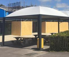 ... Sheltered canopies also used as outdoor classrooms & Sheltered canopies for school outdoor eating area | Zenith Canopy ...