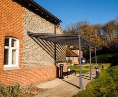 Canopy shelter for police rehabilitation centre
