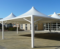 Zenith Canopy Structures: Canopies and shade sails aid social distancing at school