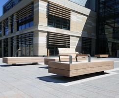 Street furniture for Bath Spa University campus