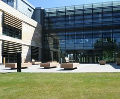 External seating for Bath Spa University campus