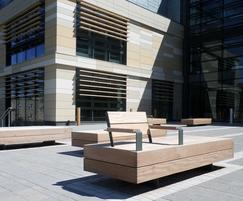 Benches for Bath Spa University campus