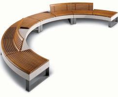 Diamante settore wood seating
