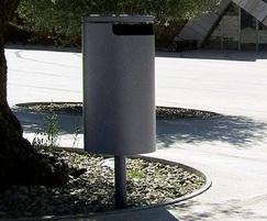 Ermes Post-Mounted Litter Bin