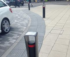 Metro 40 Stop Bollards at Eastbourne train station