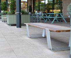 Multiplicity Backless Bench, Landscape Forms