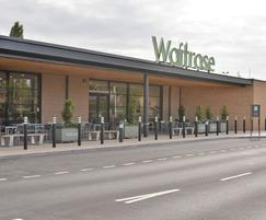 Complementary outdoor seating & litter bins at Waitrose