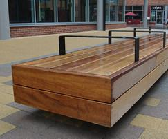 Benches with bespoke lighting for Flemingate, Hull