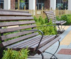 Sculpture seats at Flemingate, Hull