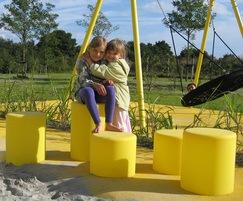 HopOp polyethylene indoor seating
