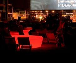 Loop Light illuminated indoor seating