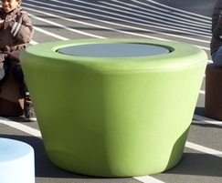 Loop Cone polyethylene indoor Table
