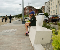 Anastasio-Makatite benches at Colwyn Bay