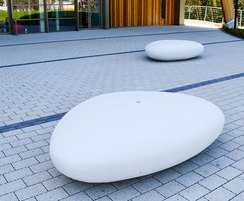 Stone seating for Montem Ice Arena, Slough